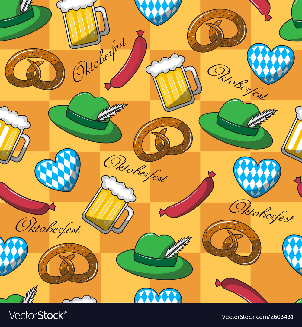 Seamless pattern on oktoberfest vector | Price: 1 Credit (USD $1)