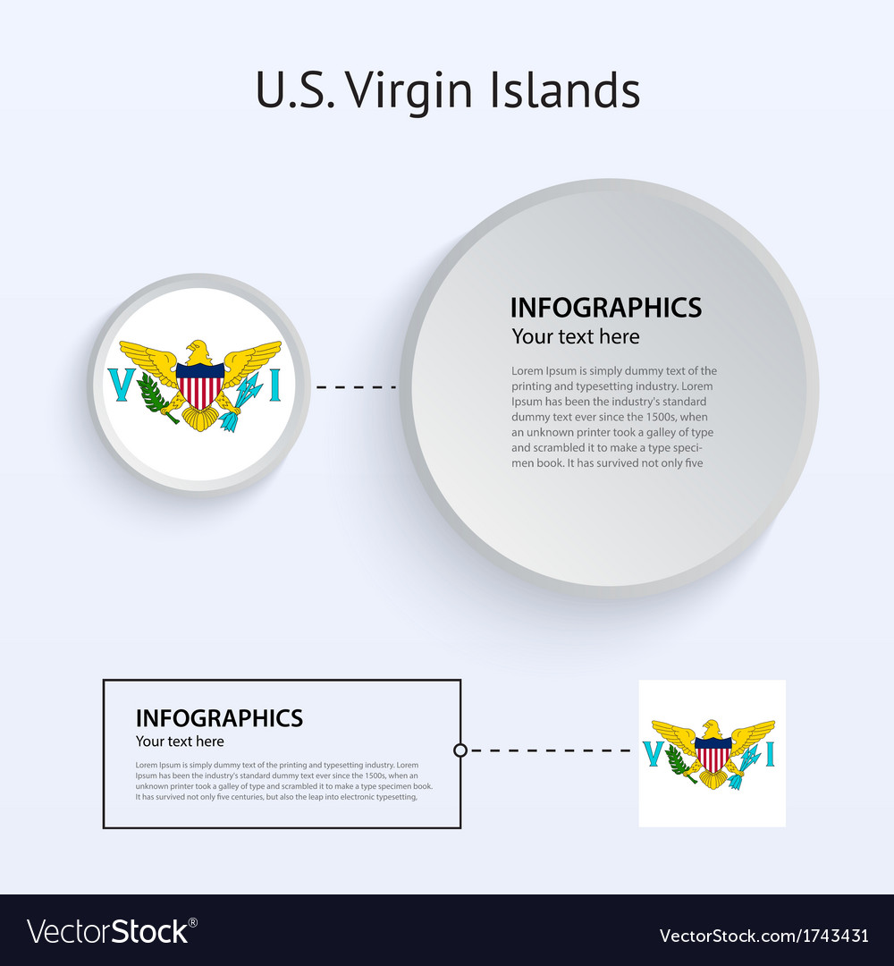 Us virgin islands country set of banners vector | Price: 1 Credit (USD $1)
