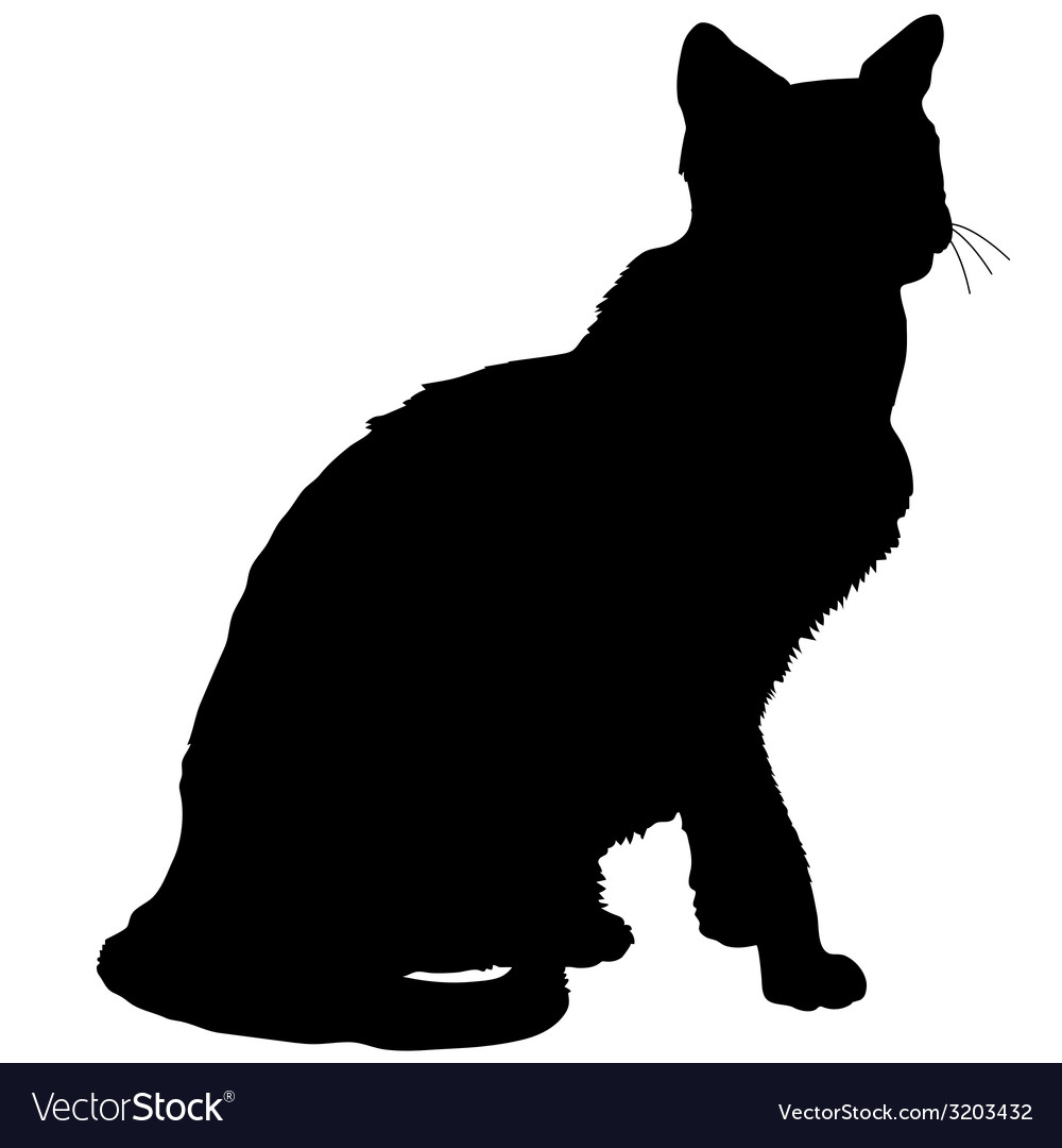 Cat silhouette 4 vector | Price: 1 Credit (USD $1)