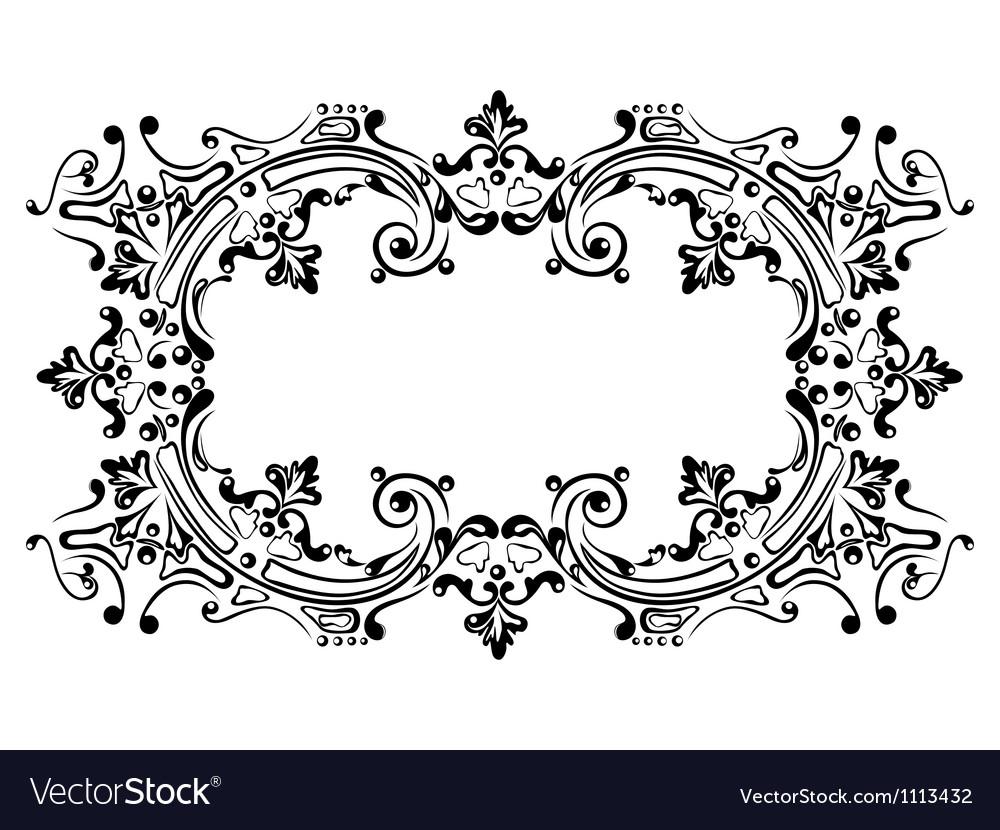 Design frame black vector | Price: 1 Credit (USD $1)