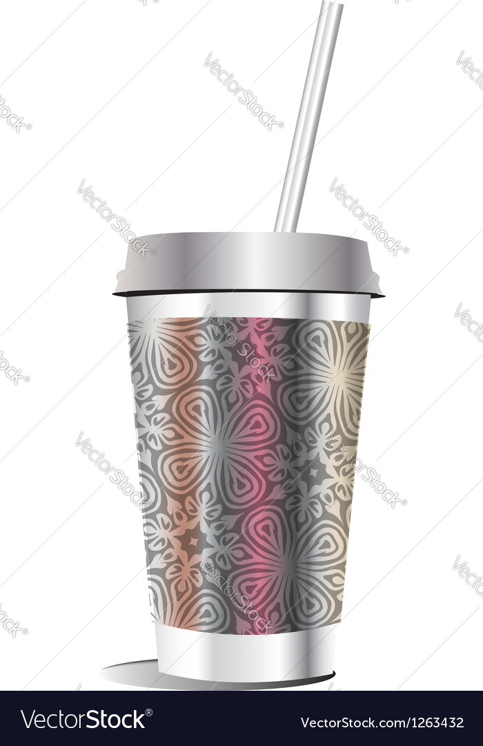 Paper glass vector | Price: 1 Credit (USD $1)