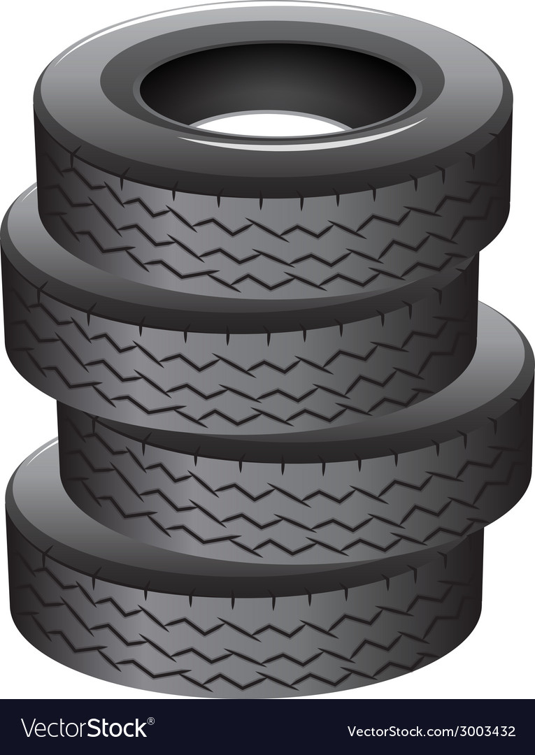 Pile of tires vector | Price: 1 Credit (USD $1)