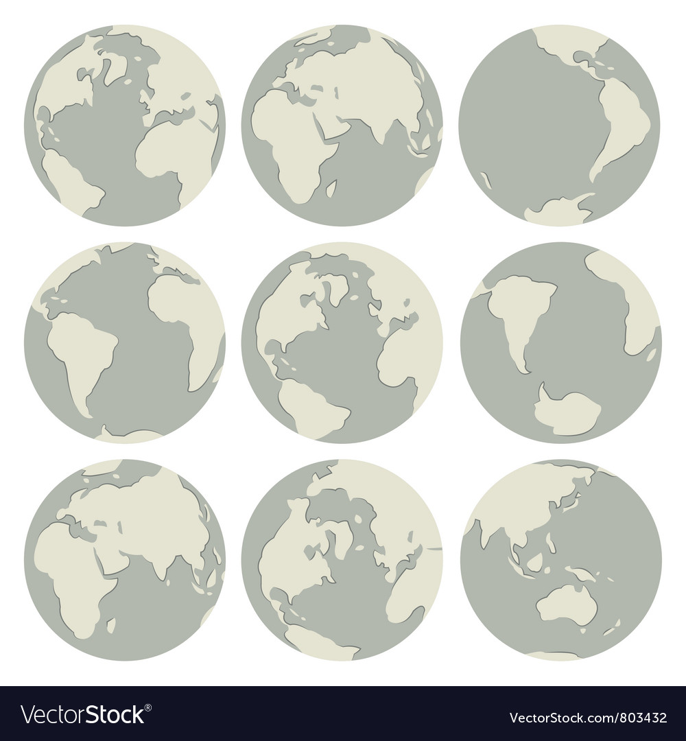 Set of globes vector   Price: 1 Credit (USD $1)