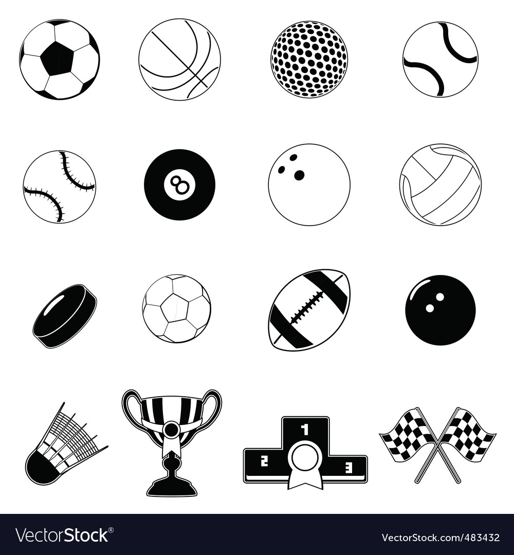 Sport item design elements vector | Price: 1 Credit (USD $1)