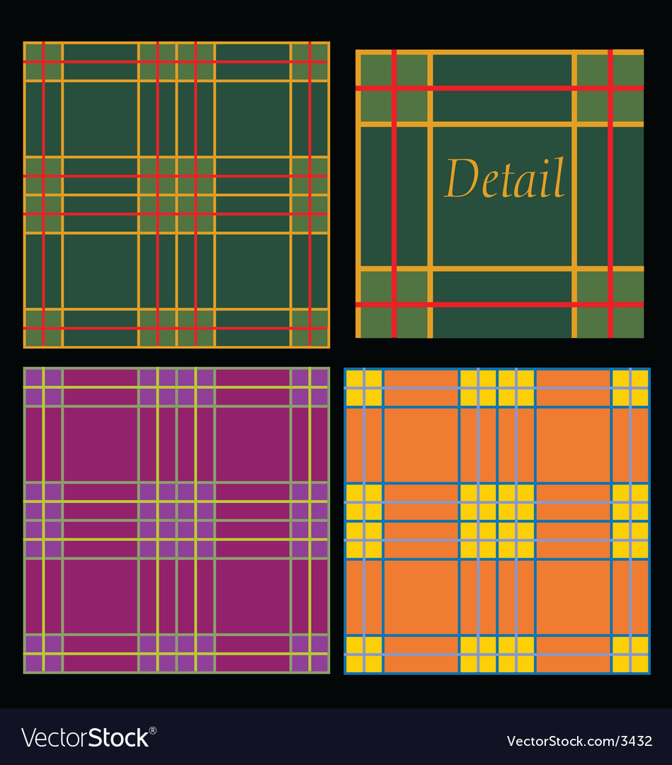 Traditional tartans vector | Price: 1 Credit (USD $1)