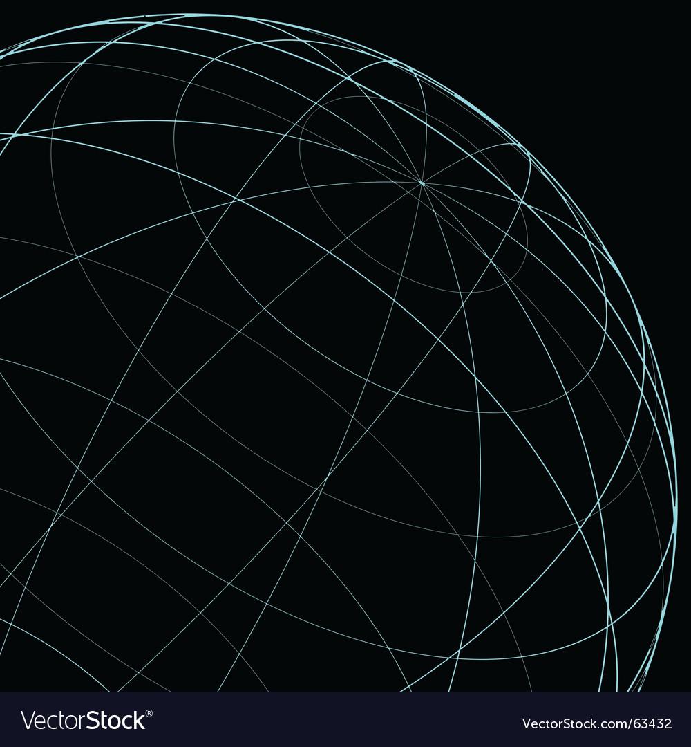 Wireframe globe vector | Price: 1 Credit (USD $1)