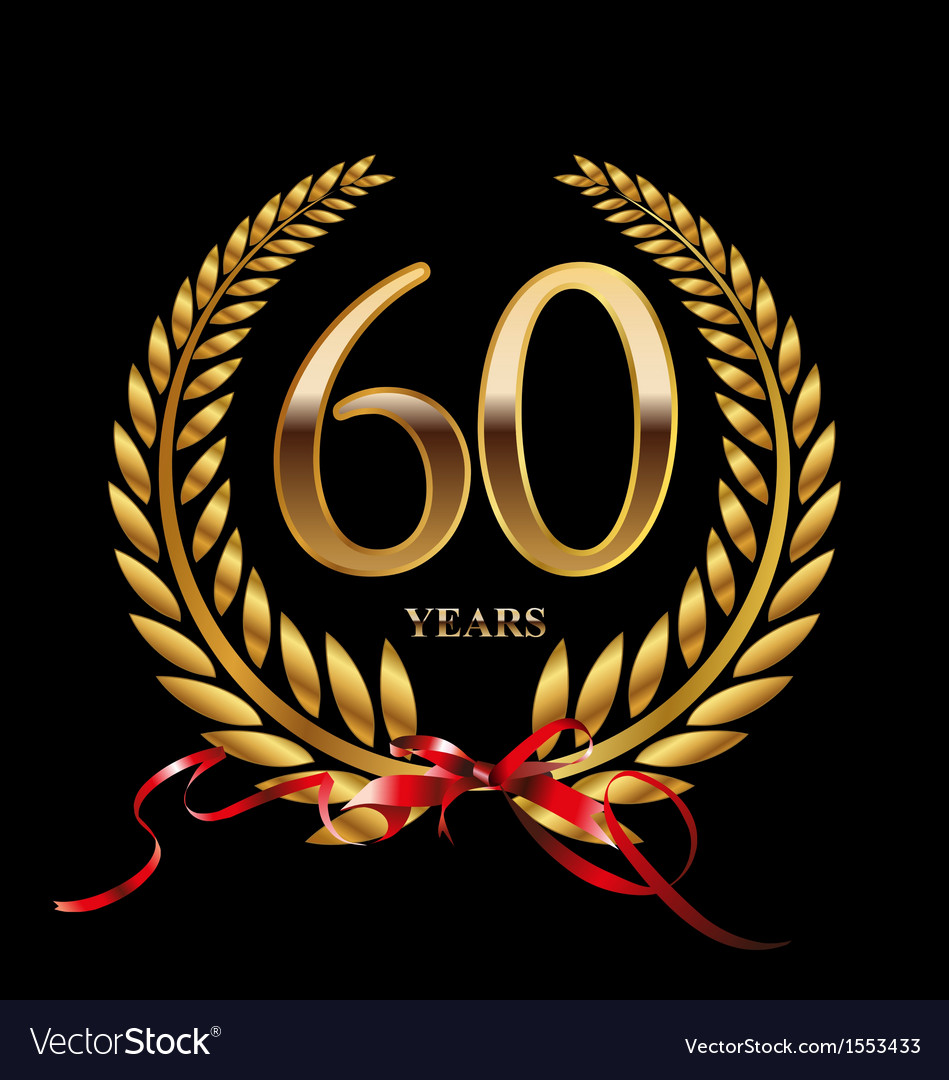 60 years anniversary laurel wreath vector | Price: 1 Credit (USD $1)