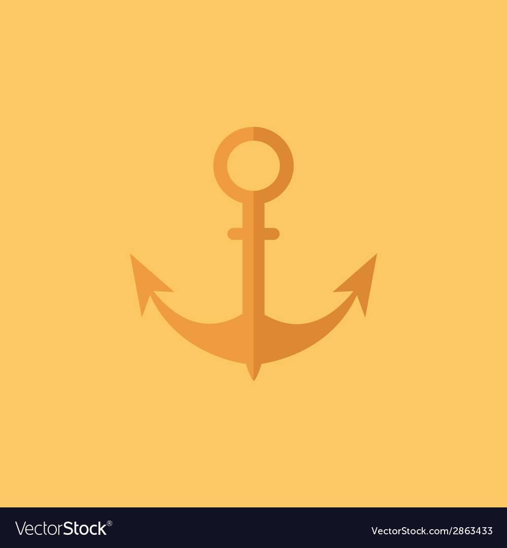 Anchor transportation flat icon vector | Price: 1 Credit (USD $1)