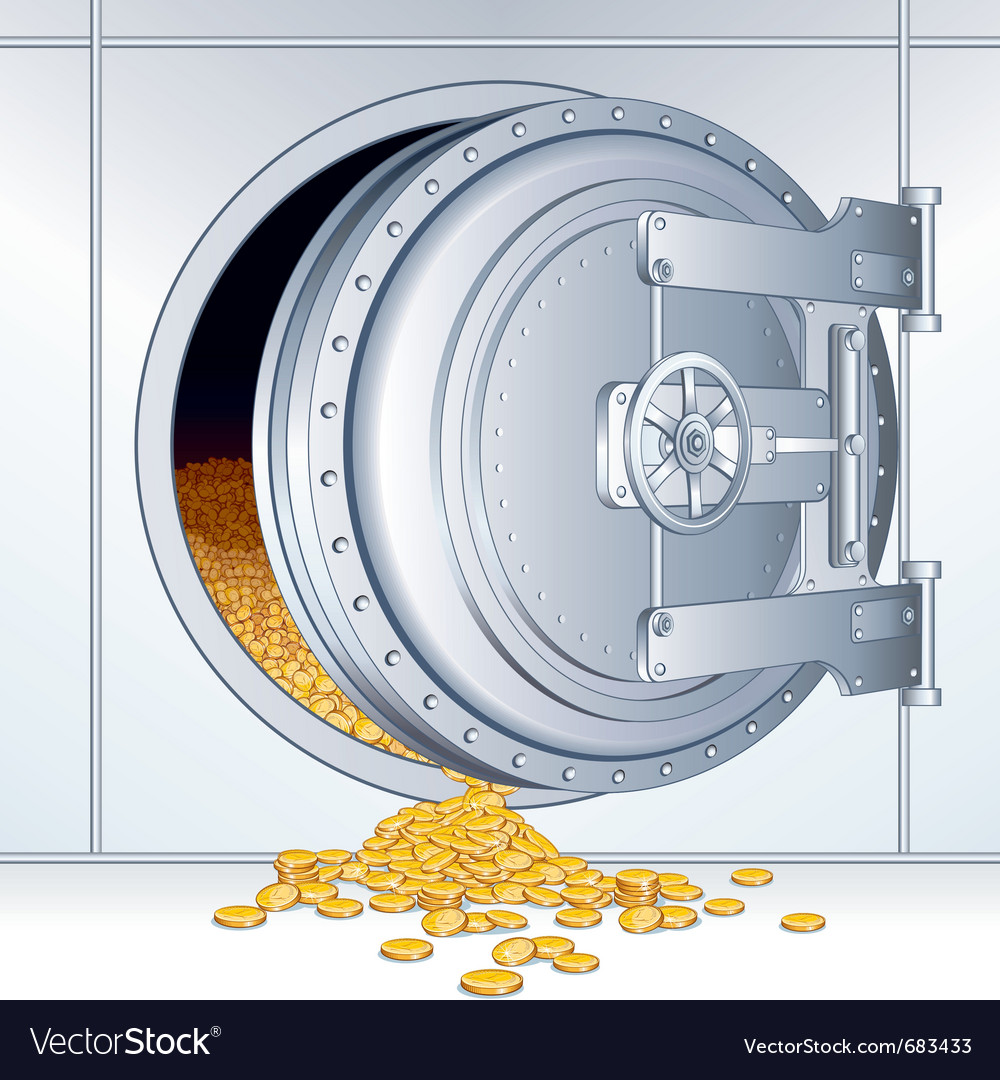 Bank vault vector | Price: 1 Credit (USD $1)