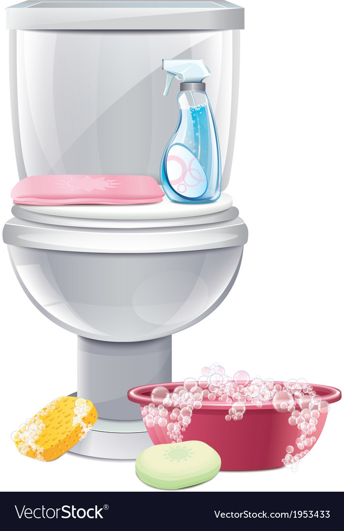 Cleaning toilets vector | Price: 1 Credit (USD $1)