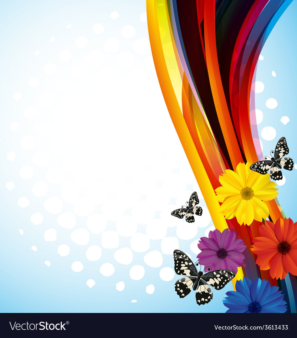 Floral background3 vector | Price: 1 Credit (USD $1)