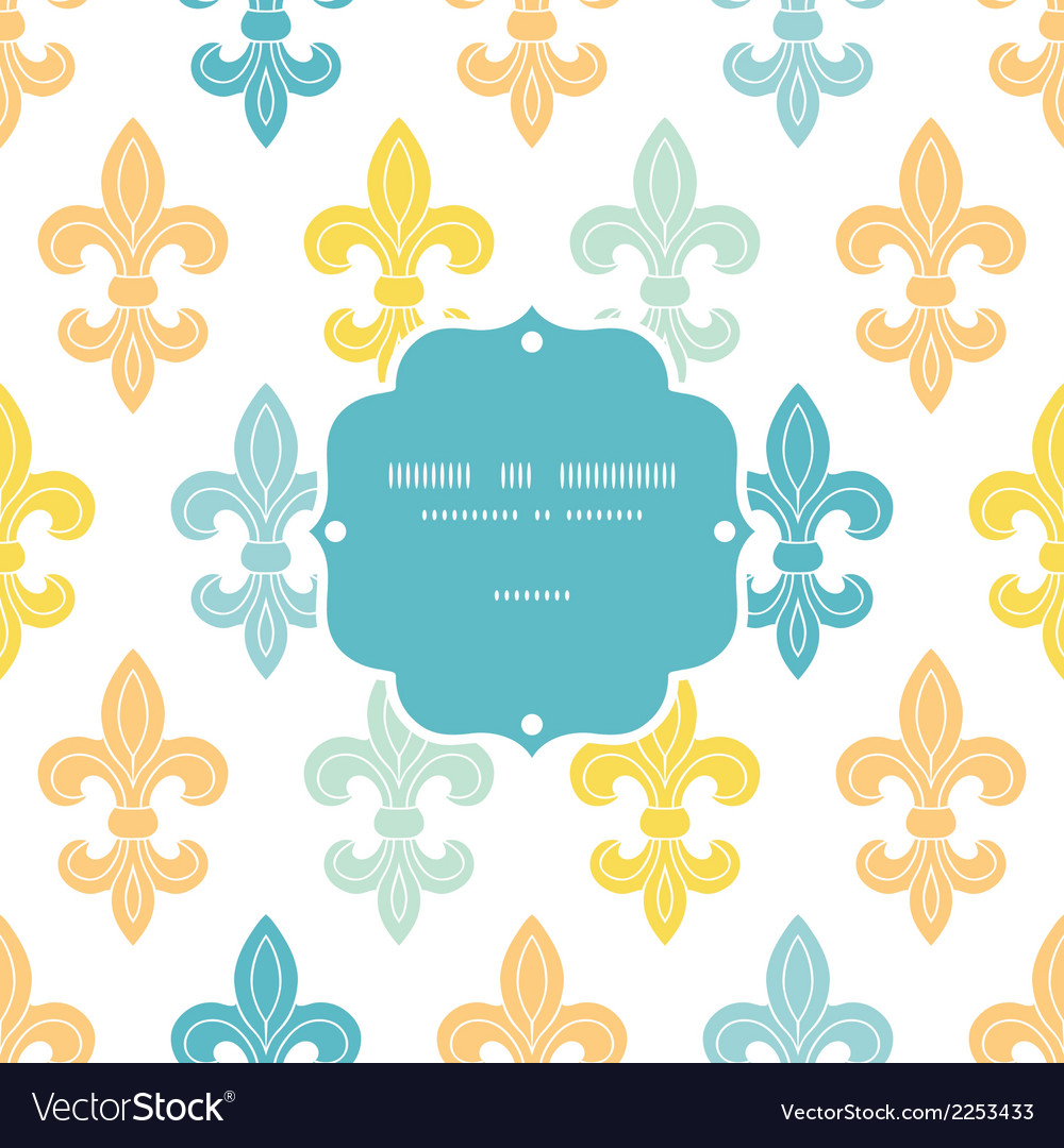 God and blue lily frame seamless pattern vector | Price: 1 Credit (USD $1)