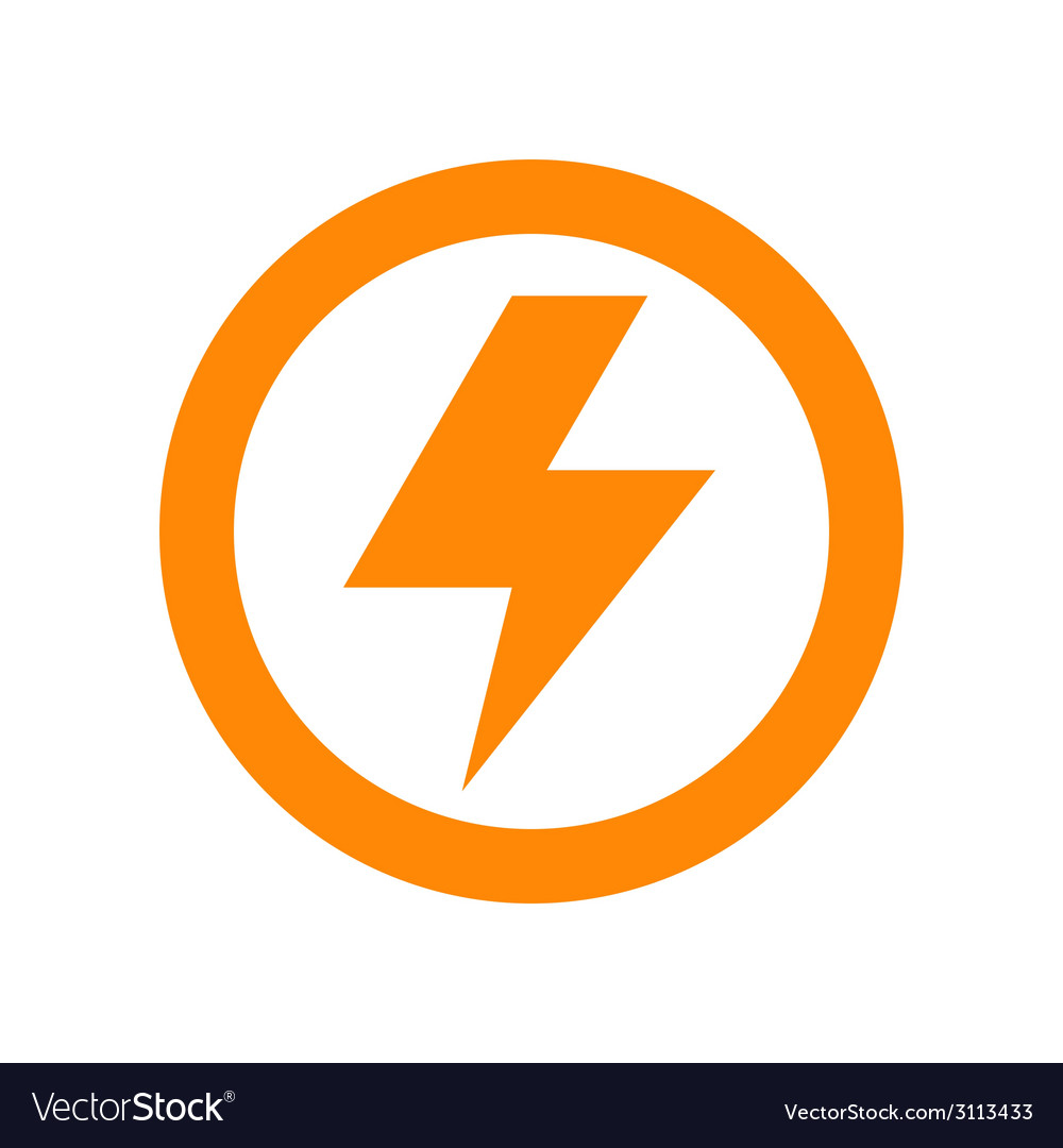 Lightning bolt sign vector | Price: 1 Credit (USD $1)