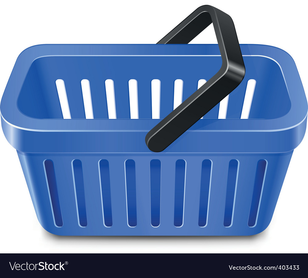 Shopping basket vector | Price: 1 Credit (USD $1)