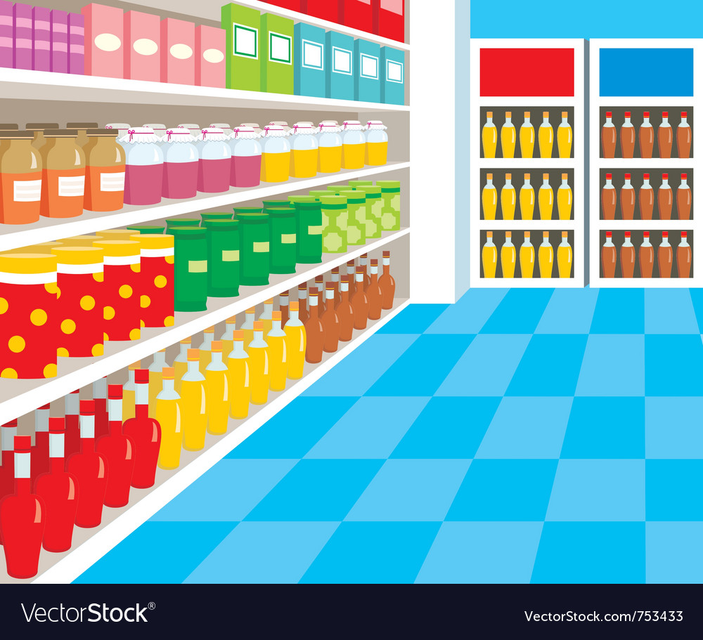 Supermarket vector | Price: 1 Credit (USD $1)