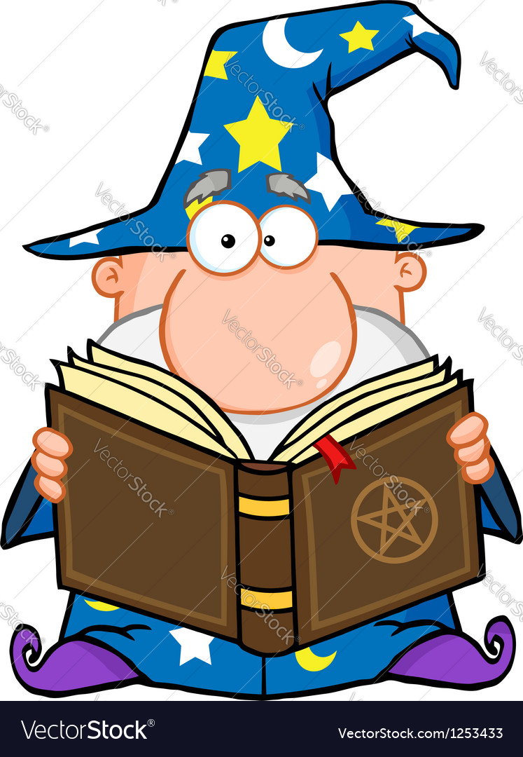 Wizard holding a magic book vector | Price: 1 Credit (USD $1)
