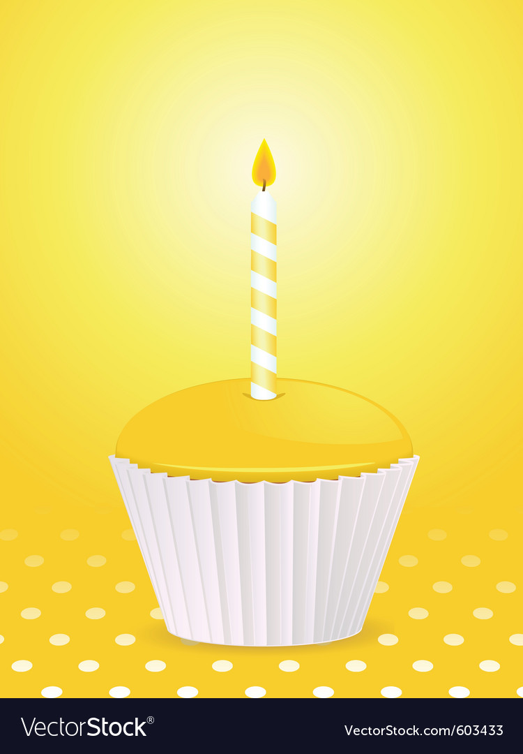 Yellow cupcake vector | Price: 1 Credit (USD $1)