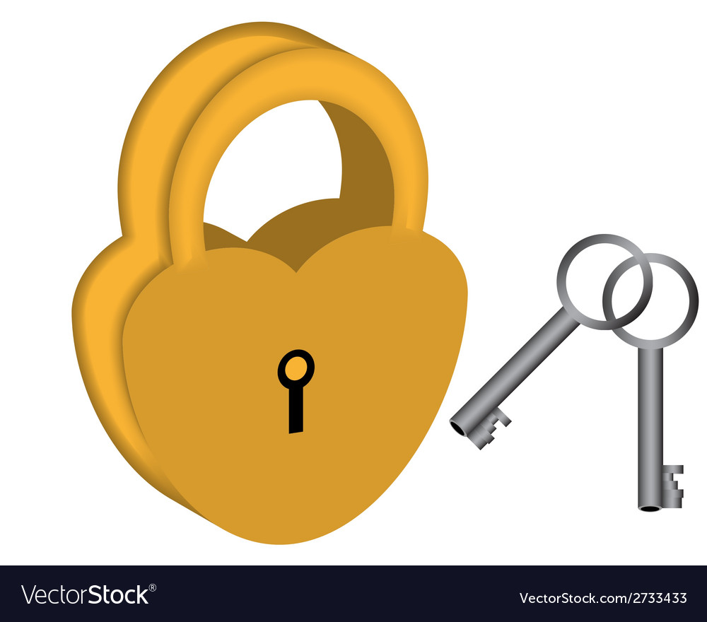 Yellow padlock vector | Price: 1 Credit (USD $1)