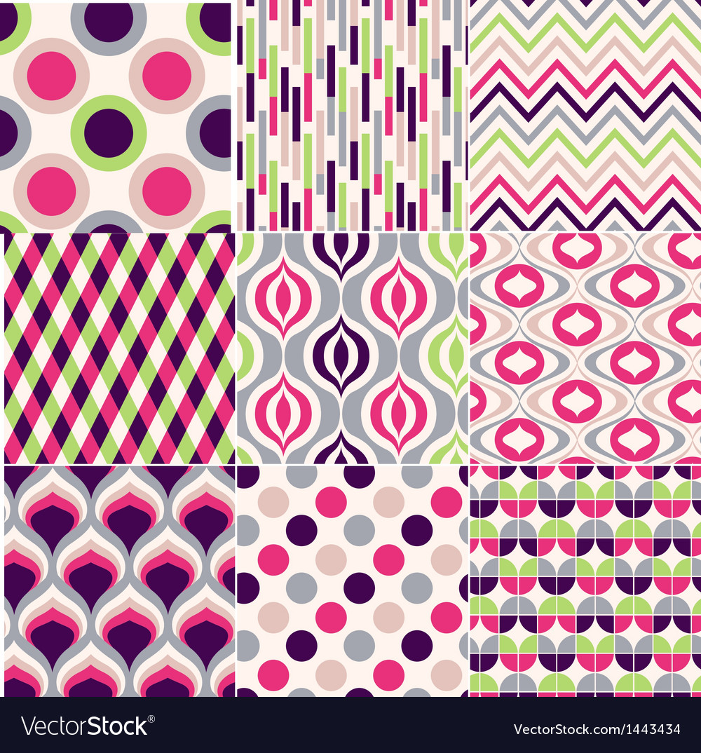 Colorful seamless geometric pattern vector | Price: 1 Credit (USD $1)