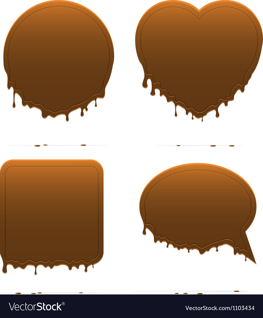 Dripping chocolate shapes vector | Price: 1 Credit (USD $1)
