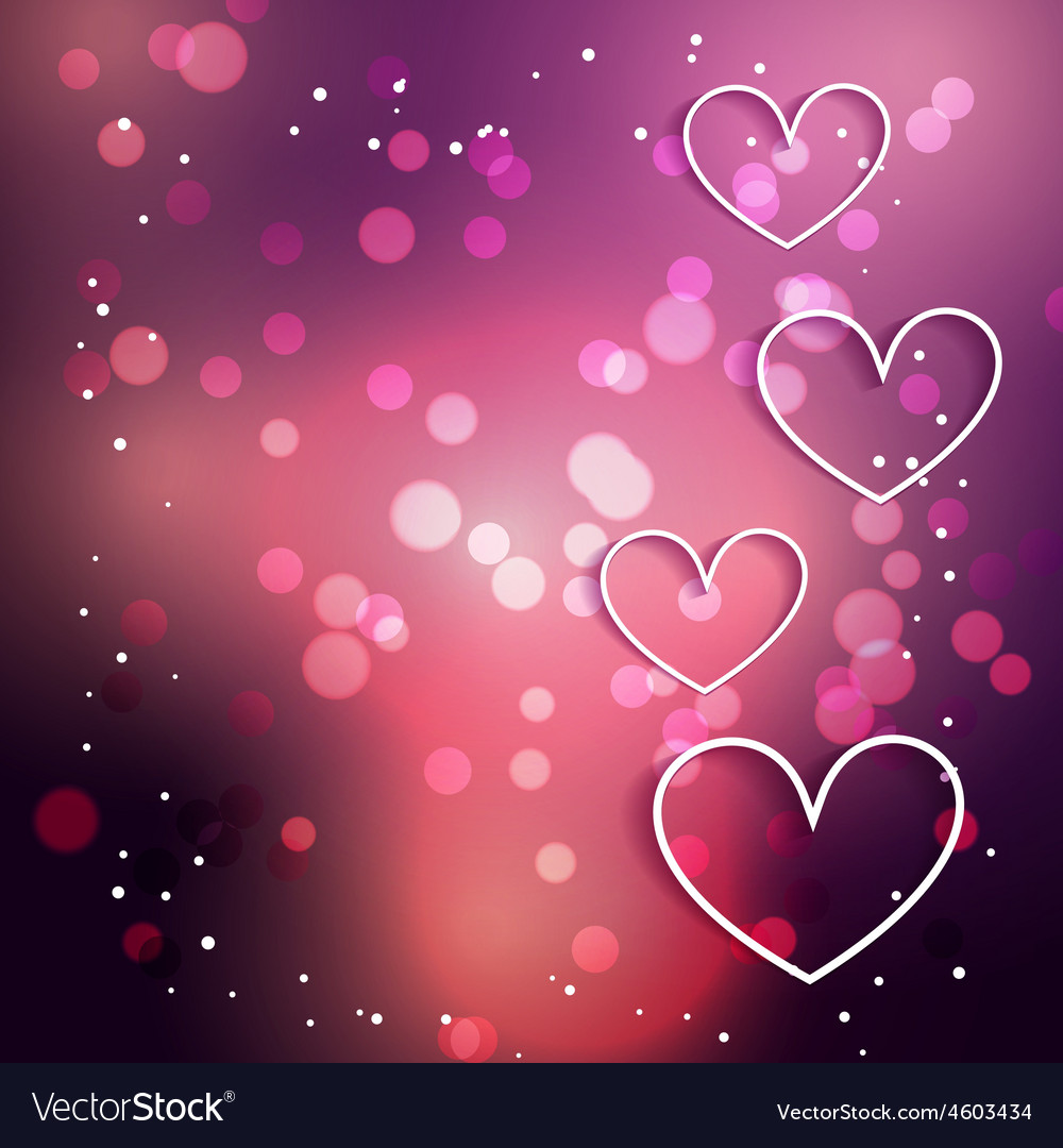 Heart background with bokeh effect vector | Price: 3 Credit (USD $3)
