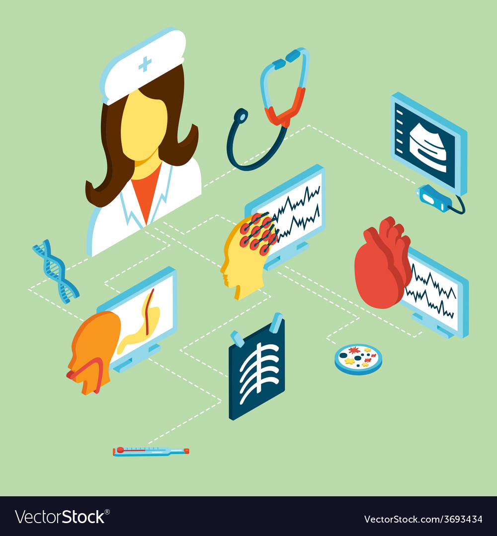 Medical isometric icons vector | Price: 1 Credit (USD $1)