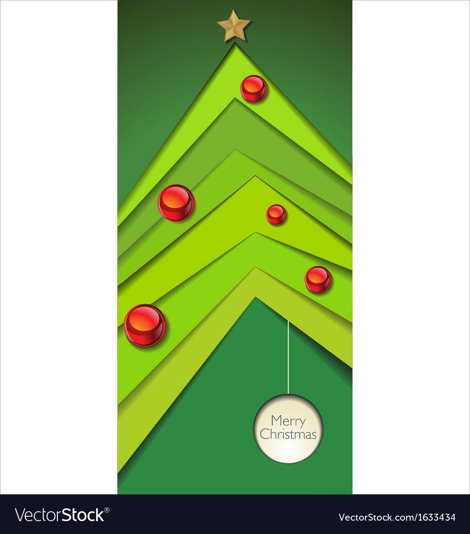 Modern christmas tree vector   Price: 1 Credit (USD $1)