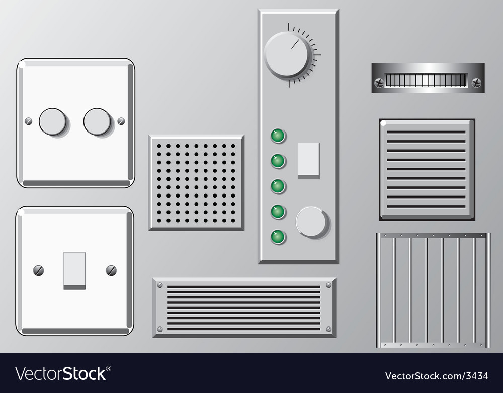 Panels and switches vector | Price: 1 Credit (USD $1)