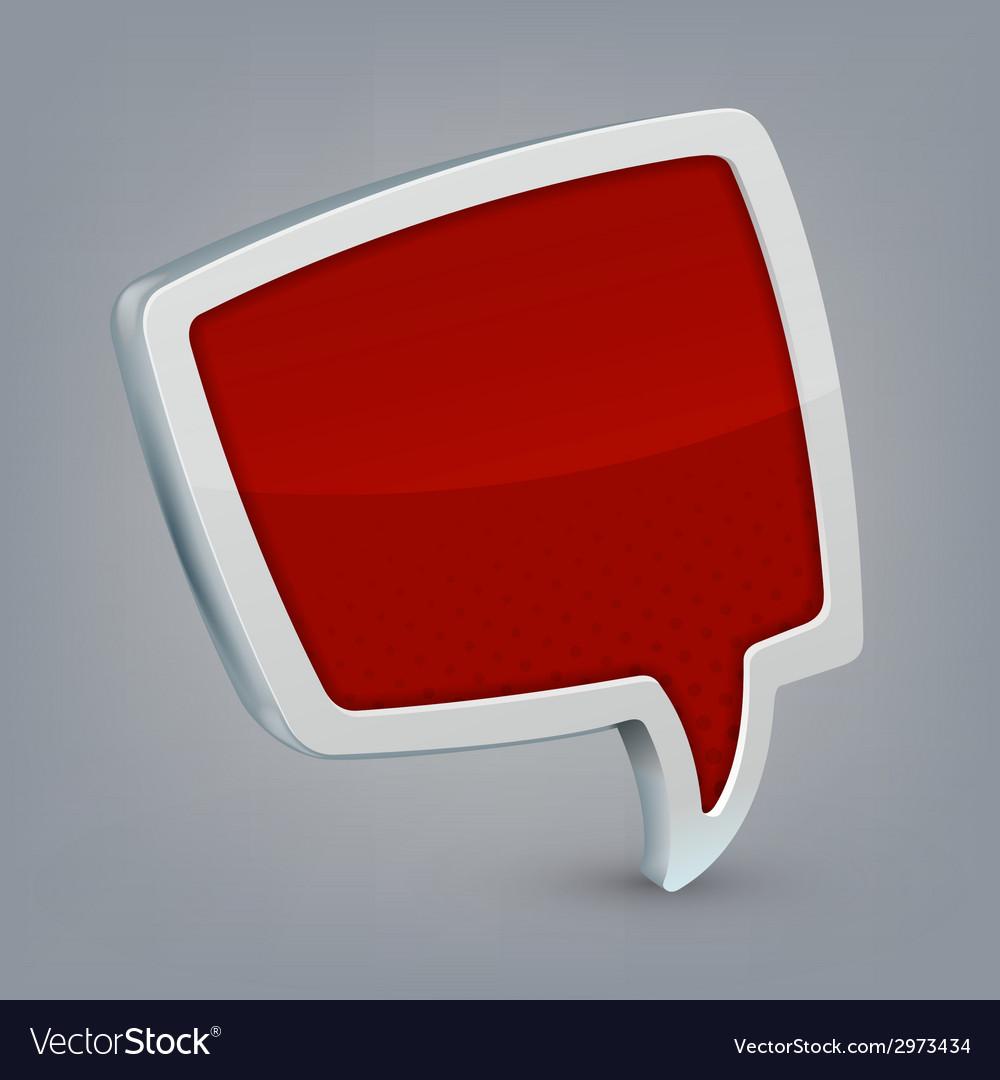 Red cloud speech vector | Price: 1 Credit (USD $1)
