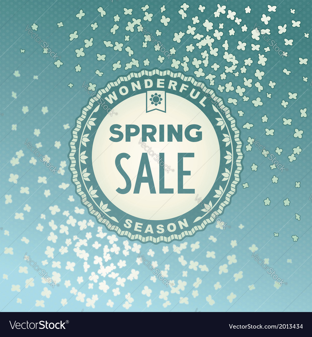 Spring sale label design vector | Price: 1 Credit (USD $1)