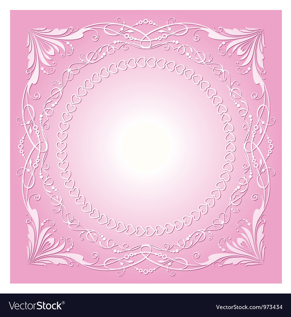 Vintage radial ornament with background vector | Price: 1 Credit (USD $1)