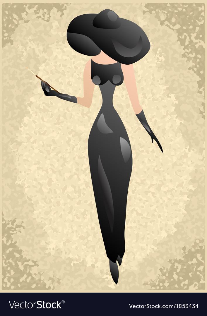 Vintage woman vector   Price: 1 Credit (USD $1)