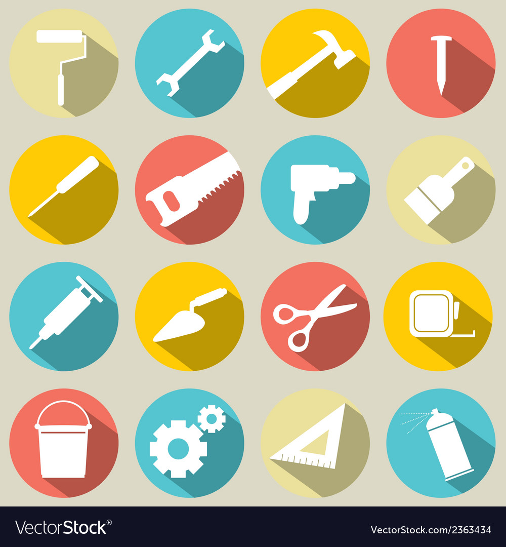 Working tools icons set 16 vector | Price: 1 Credit (USD $1)