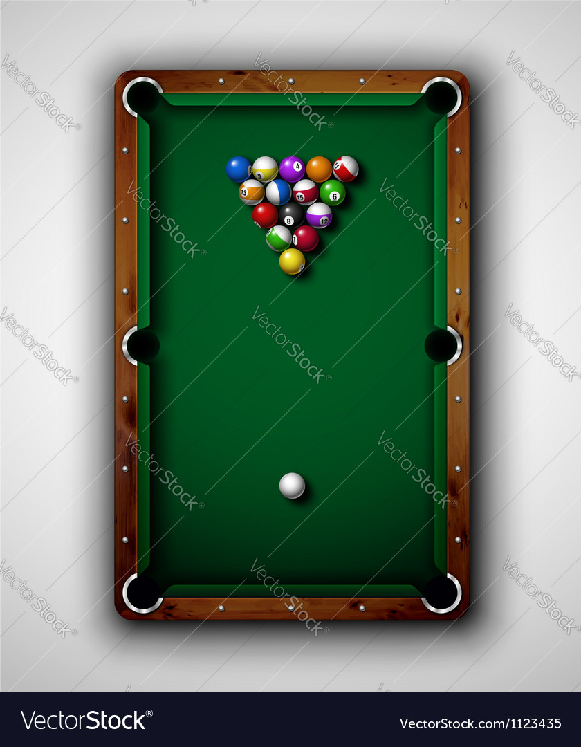 Billiard table vector | Price: 1 Credit (USD $1)