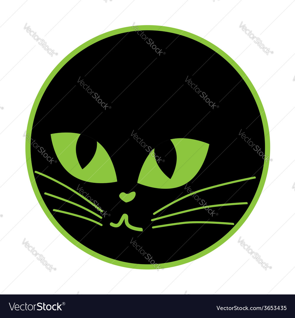 Black cat icon on the plate vector | Price: 1 Credit (USD $1)