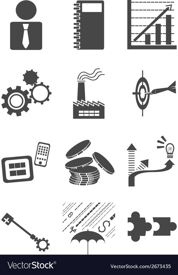 Bussiness icon vector | Price: 1 Credit (USD $1)