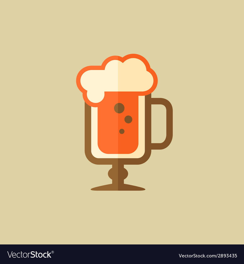 Cappuccino drink flat icon vector | Price: 1 Credit (USD $1)