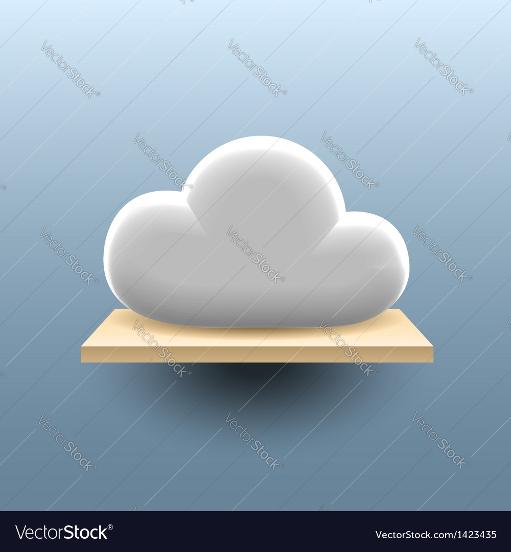 Cloud on the shelf vector | Price:  Credit (USD $)