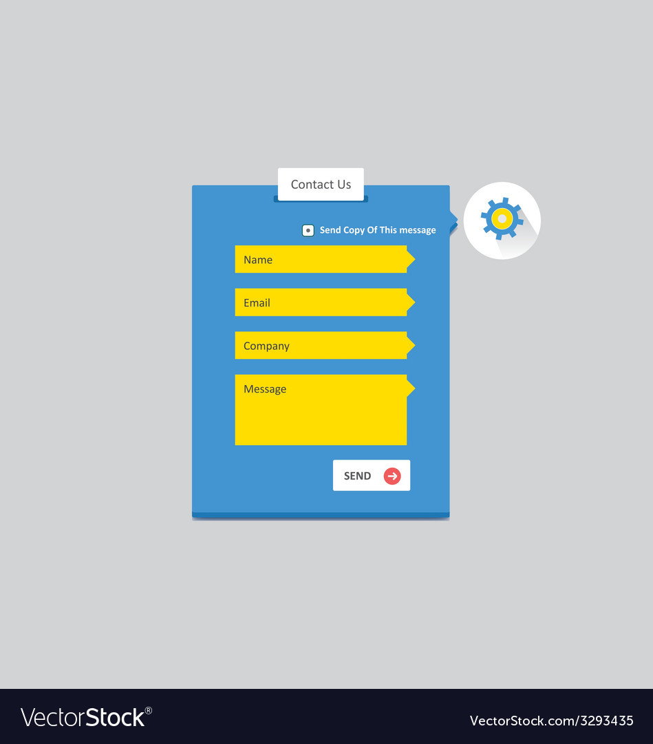 Contact form 5 vector | Price: 1 Credit (USD $1)