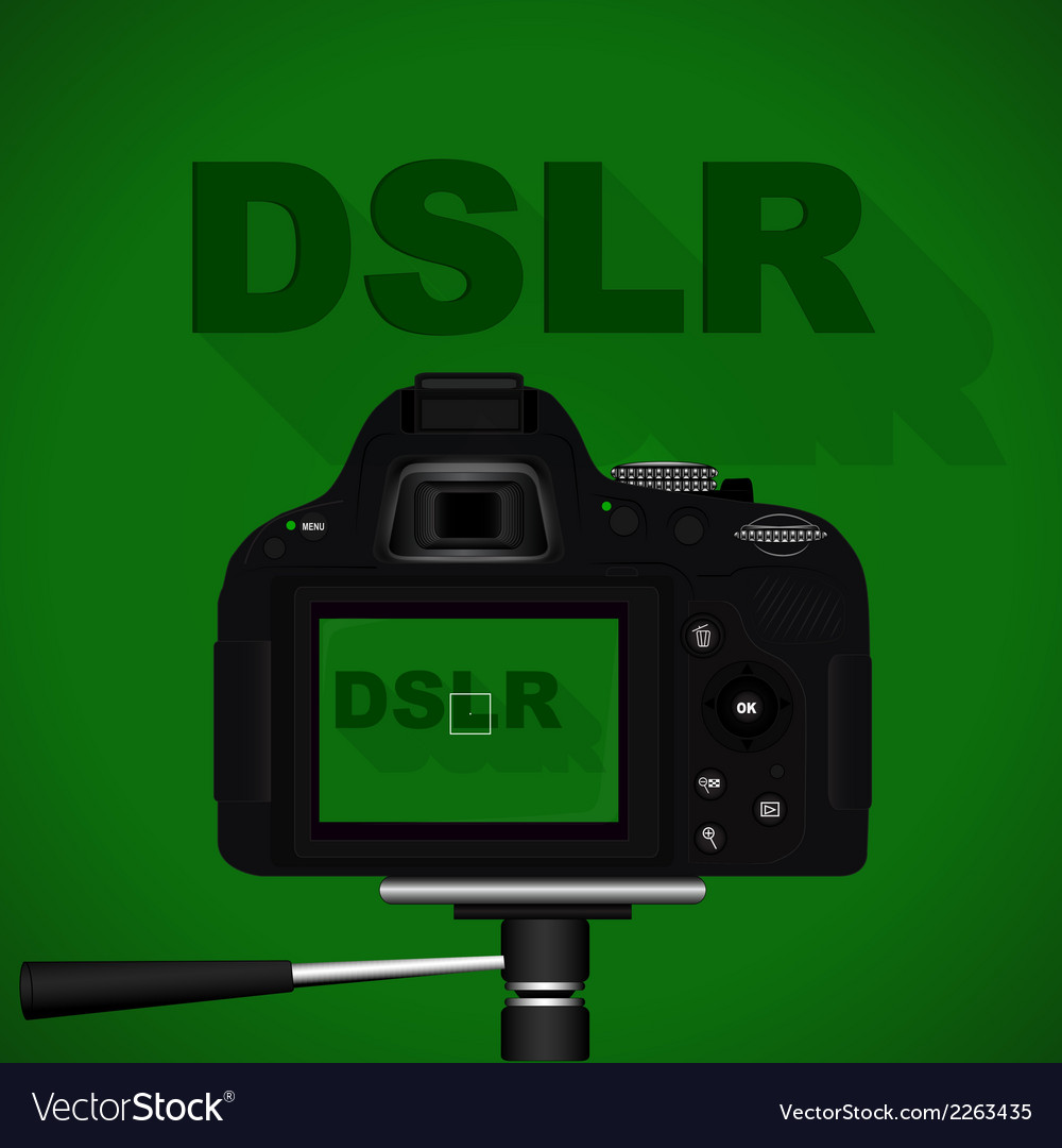 Dslr camera vector | Price: 1 Credit (USD $1)