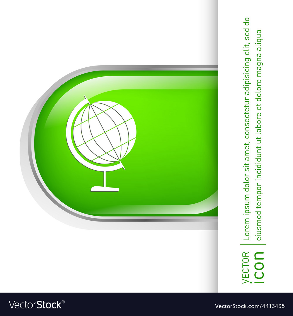 Globe symbol icon geography vector | Price: 1 Credit (USD $1)