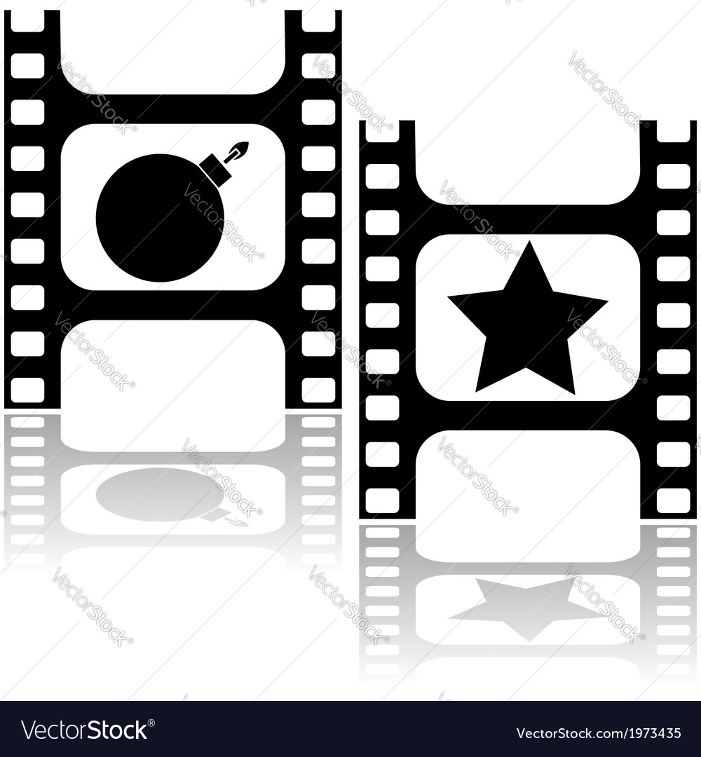 Good and bad movie vector | Price: 1 Credit (USD $1)