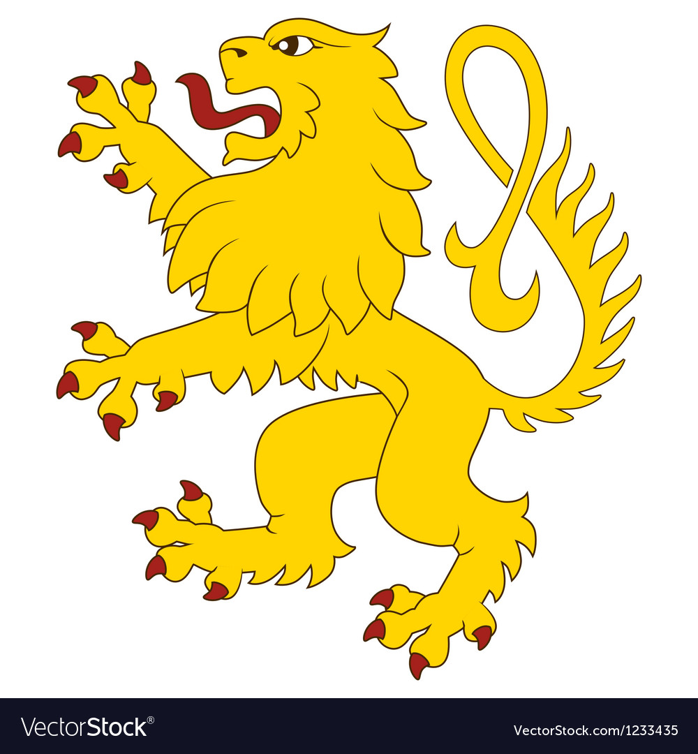 Heraldic lion 27 vector | Price: 1 Credit (USD $1)