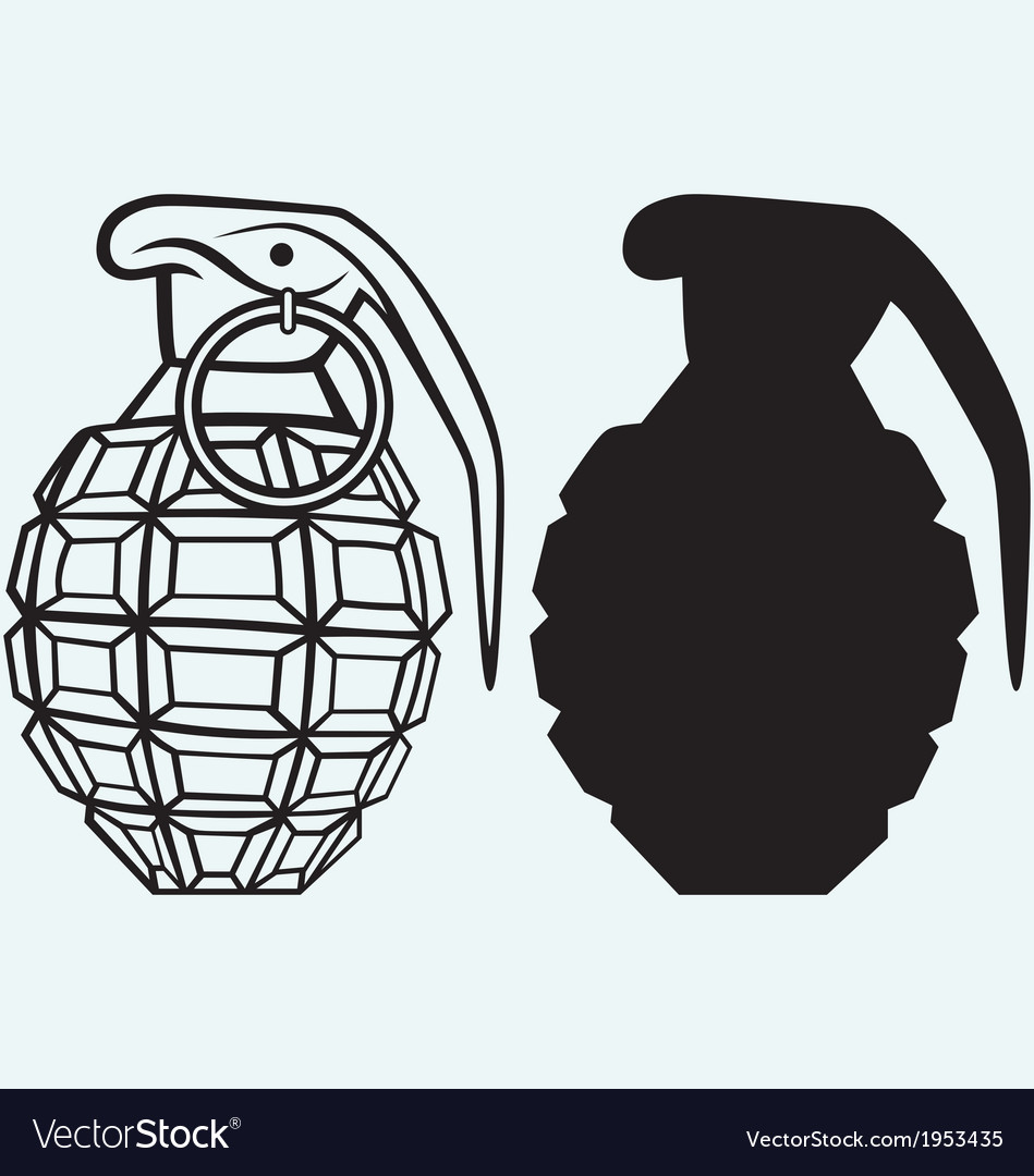 Image of an manual grenade vector | Price: 1 Credit (USD $1)