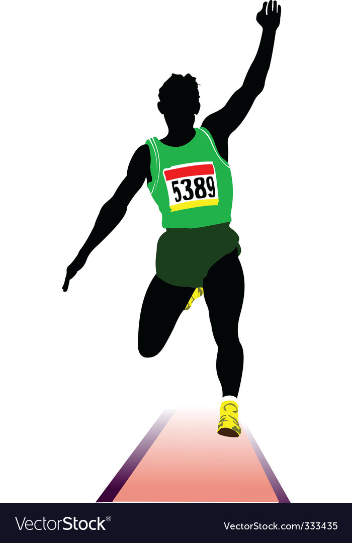 Long jump sportsman vector | Price: 1 Credit (USD $1)