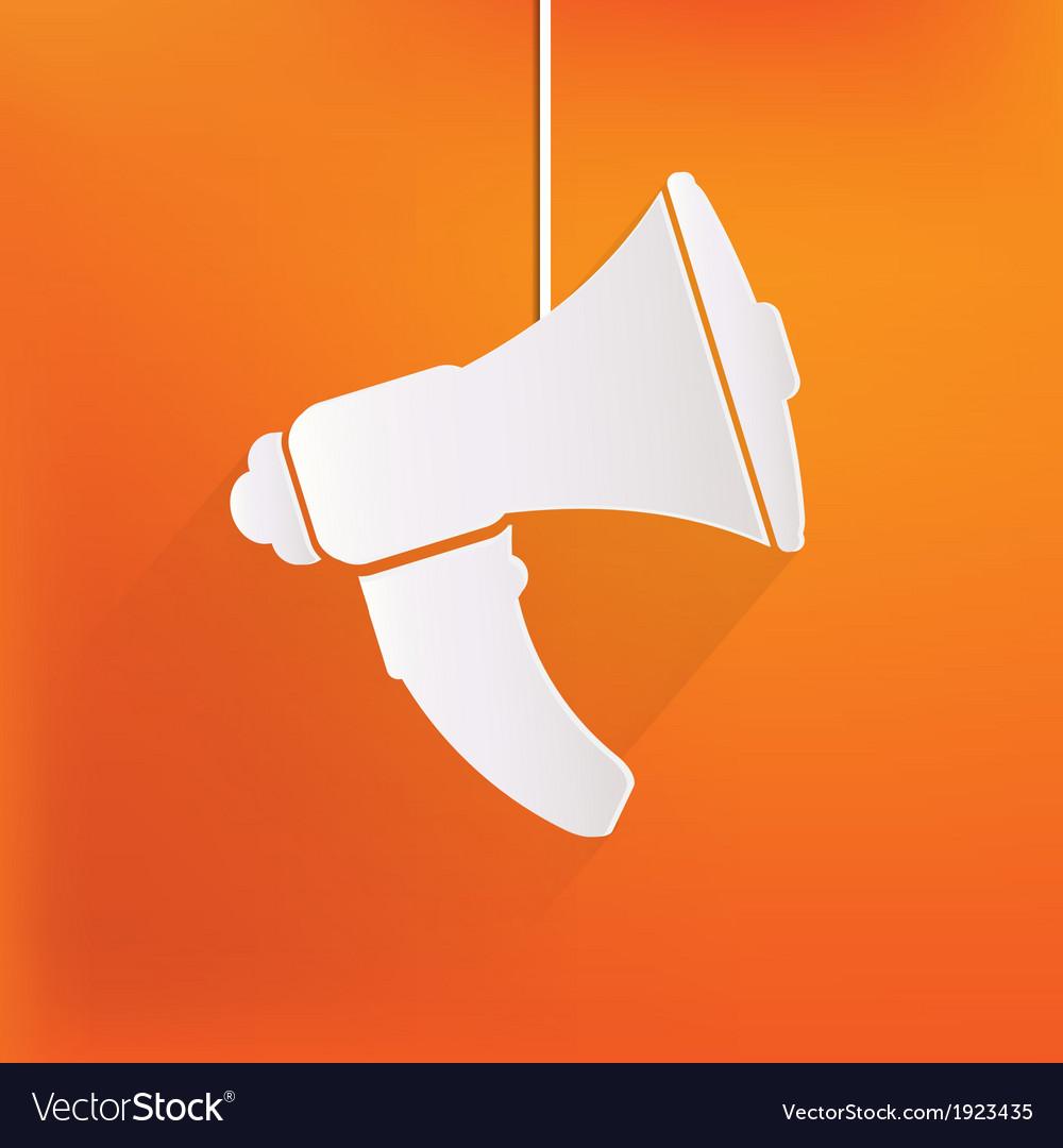 Loudspeaker icon microphone symbol vector   Price: 1 Credit (USD $1)