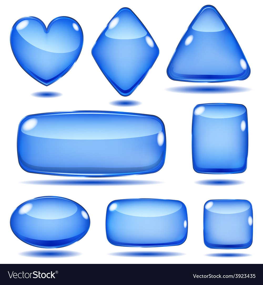 Set of opaque glass shapes vector | Price: 1 Credit (USD $1)