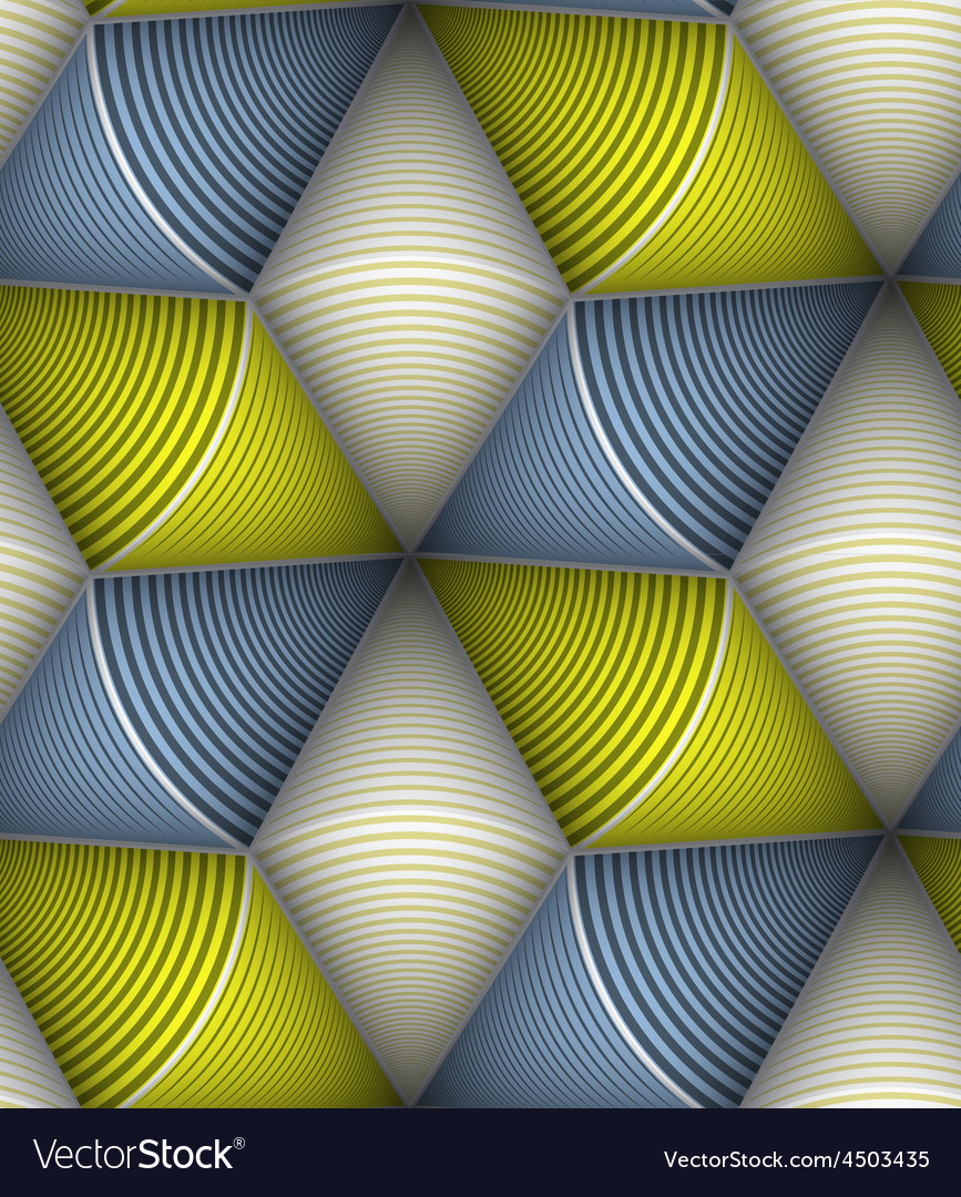 Striped circle cone 3d seamless seamless pattern vector | Price: 1 Credit (USD $1)