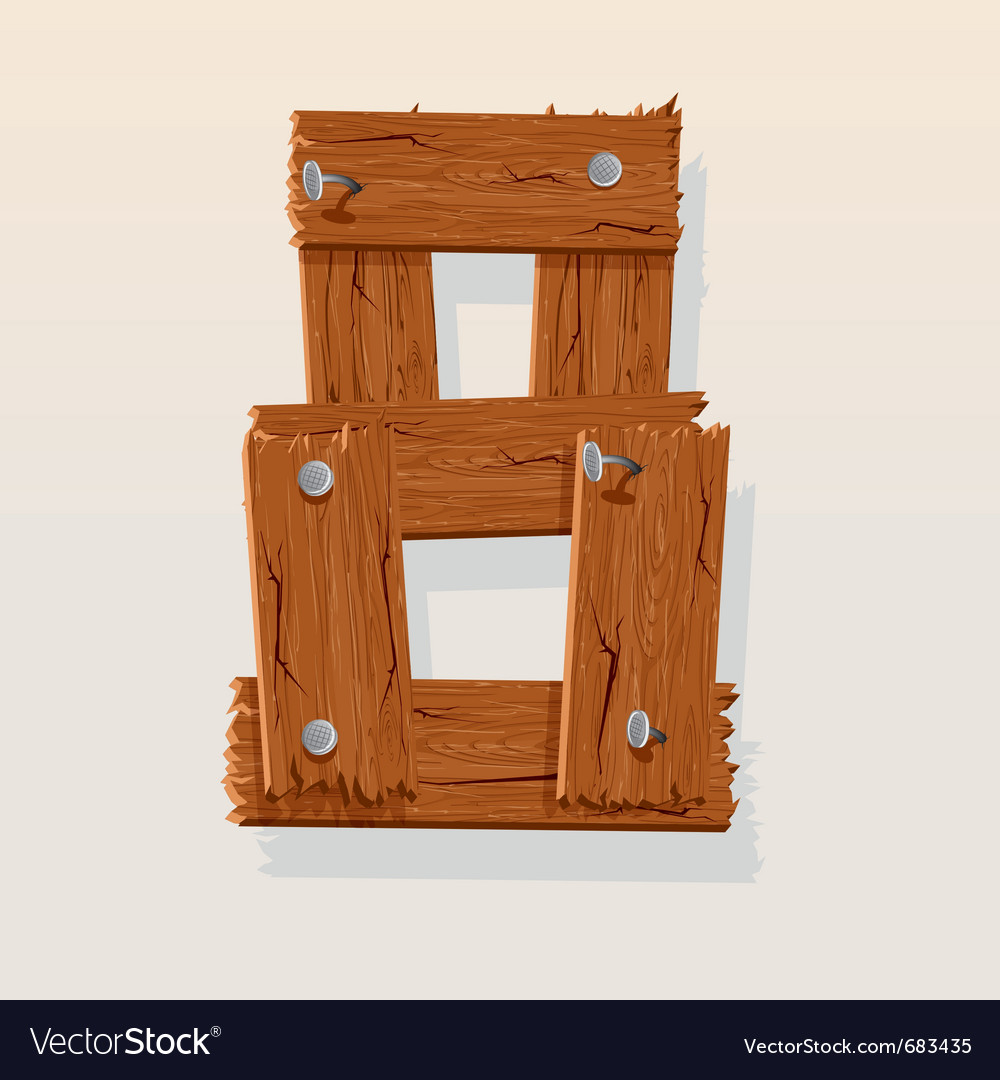 Wooden type 8 vector | Price: 1 Credit (USD $1)