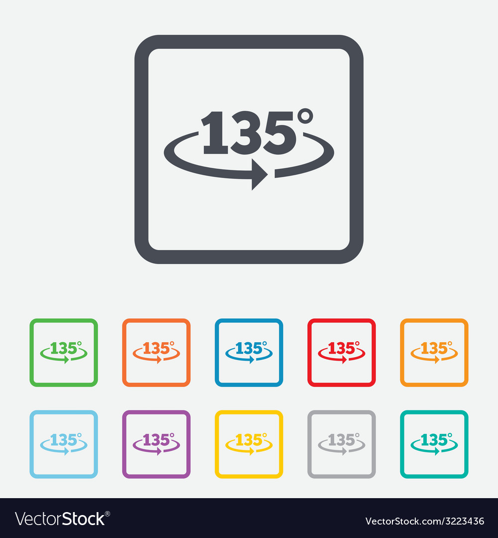 Angle 135 degrees sign icon geometry math symbol vector   Price: 1 Credit (USD $1)